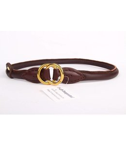 Leather collars (round collar brass)