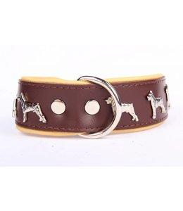 Leren halsband (Dobermann)