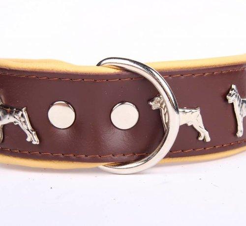 Collier de chien en cuir Dobermann