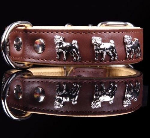 Lederhalsband (Mops)