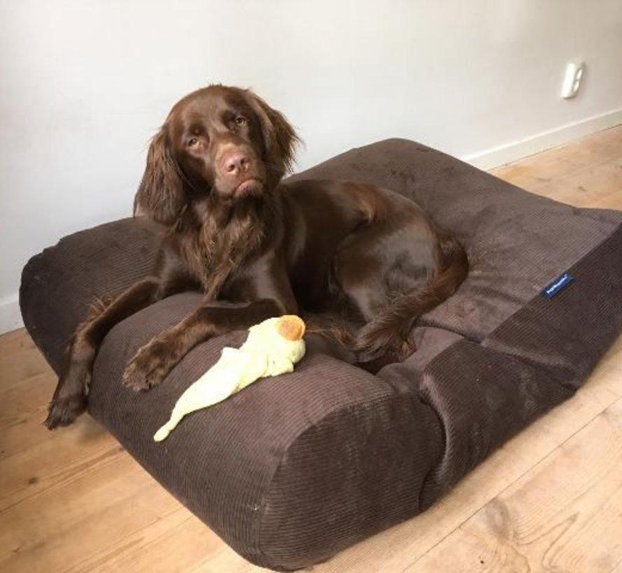 Hondenbed Chocolade Bruin Ribcord Medium
