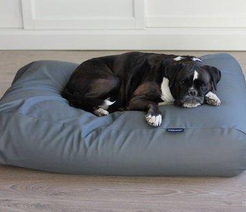 Dog's Companion Lit pour chien gris souris leather look Medium