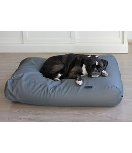 Dog's Companion Hondenbed muisgrijs leather look Large