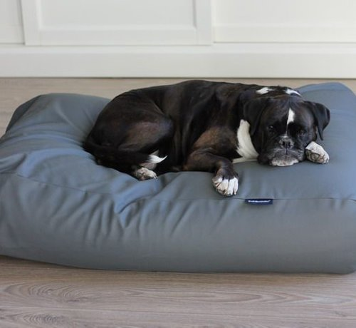 Dog's Companion Dog bed mouse grey leather look Large