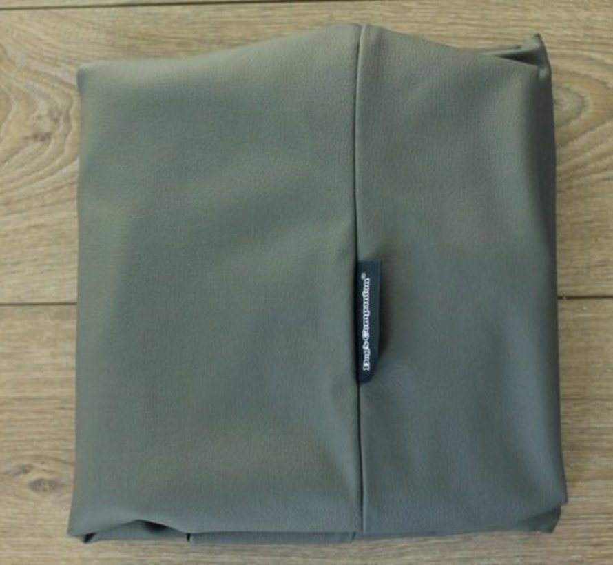 Extra cover mouse grey leather look Large