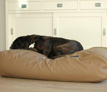 Dog's Companion Hondenbed taupe leather look Medium
