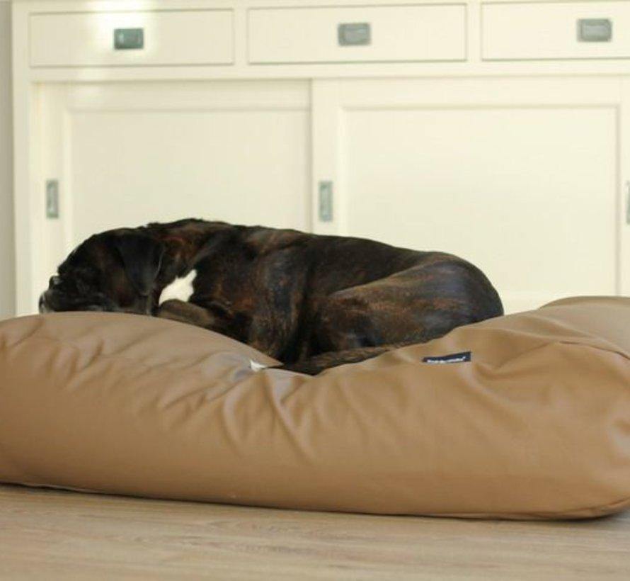 Lit pour chien taupe leather look Medium