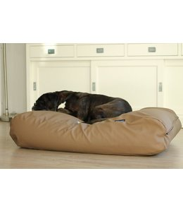 Dog's Companion Hondenbed taupe leather look Superlarge