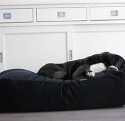 Dog's Companion Hundebett Schwarz (Cord) Large