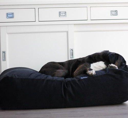 Dog's Companion Hundebett Schwarz (Cord) Medium