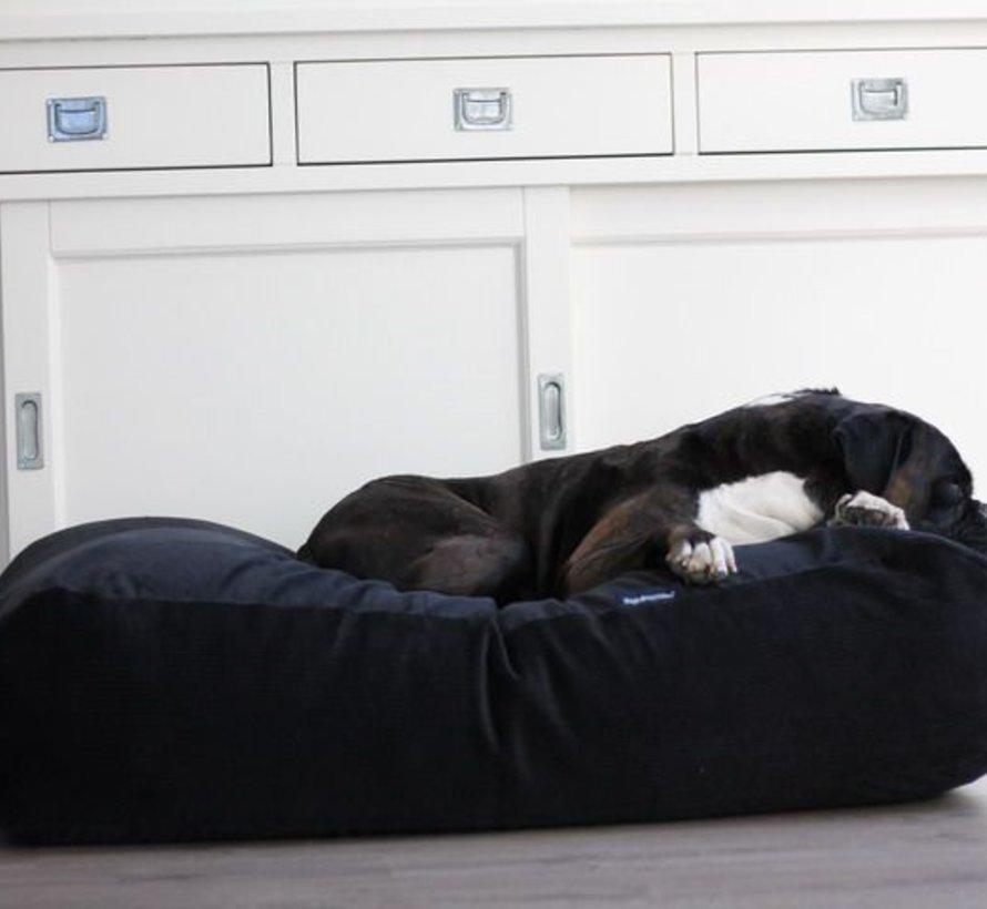 Hundebett Schwarz (Cord) Medium