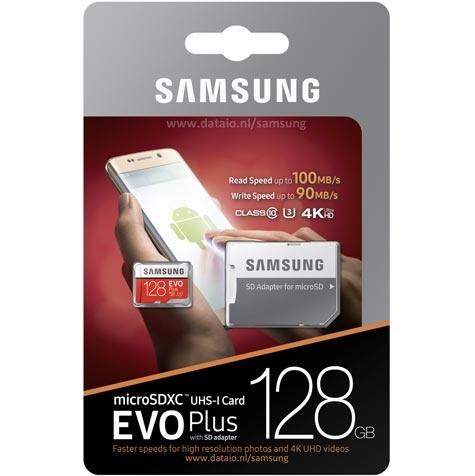 Samsung Samsung Evo Plus Micro SD geheugenkaart + SD geheugenkaart adapter