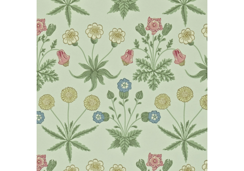 Morris & Co Daisy Pale Green/Rose