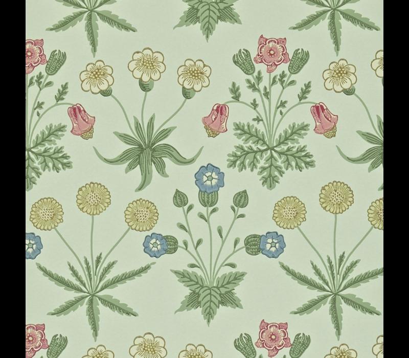 Morris & Co - Daisy Pale Green/Rose