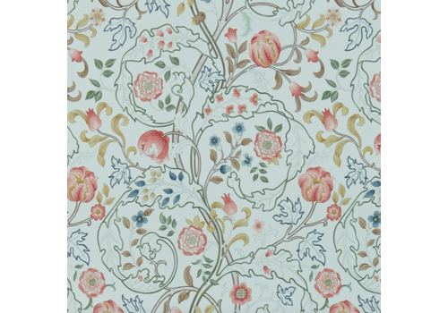 Morris & Co Mary Isobel Silk Blue/Pink