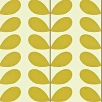 behang Classic Stem - Olive green