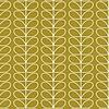 Orla Kiely behang Linear Stem - Olive green