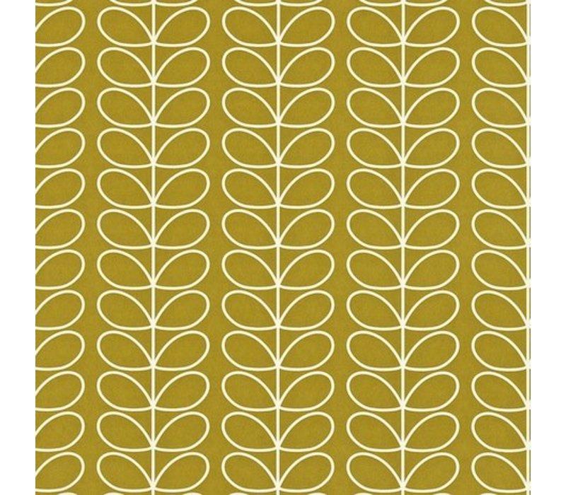 behang Linear Stem - Olive green