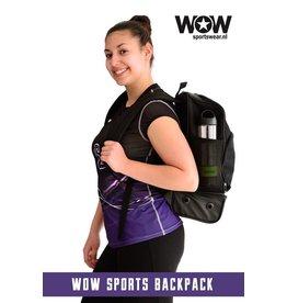 WOW sportswear Sportieve rugtas zwart, tijdelijk incl. gratis naam!