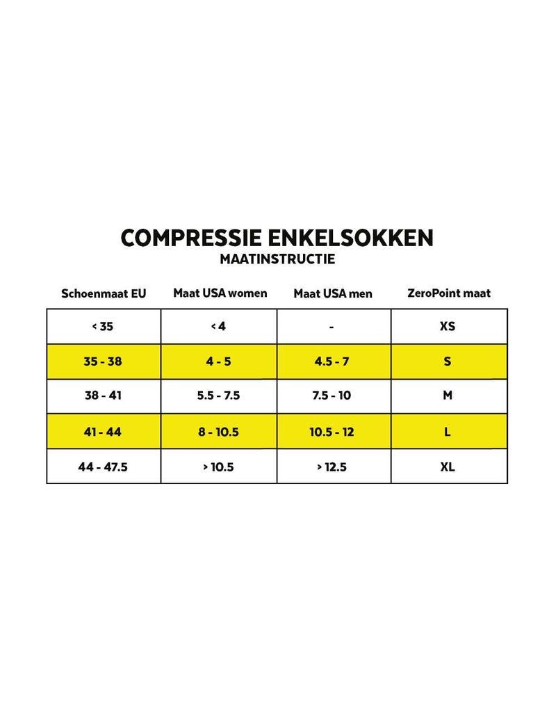 Zero Point Team Compressie Sok Donkergrijs
