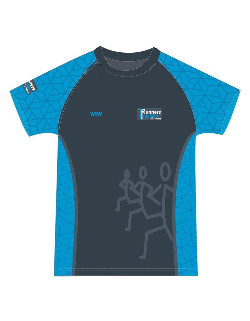 WOW sportswear Shirt Raglan Heren Runnes Together