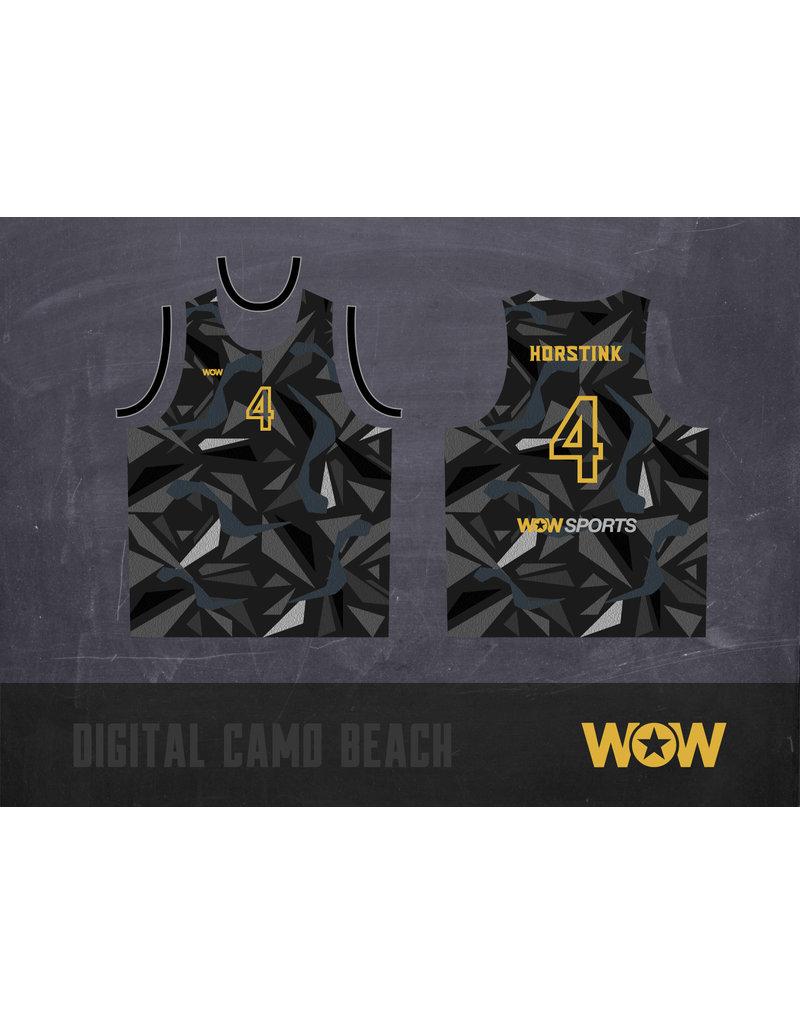 WOW sportswear DIGITAL CAMO LIMITED EDITION BEACHHEMD DAMES