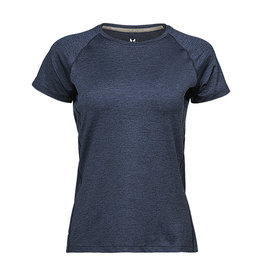 Tee Jays Cool Dry Ladies Tee Navy Melange