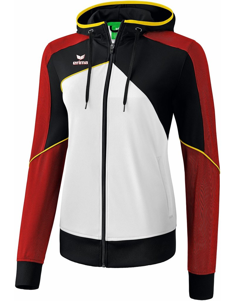 Premium One training jacket Zwart Rood Geel