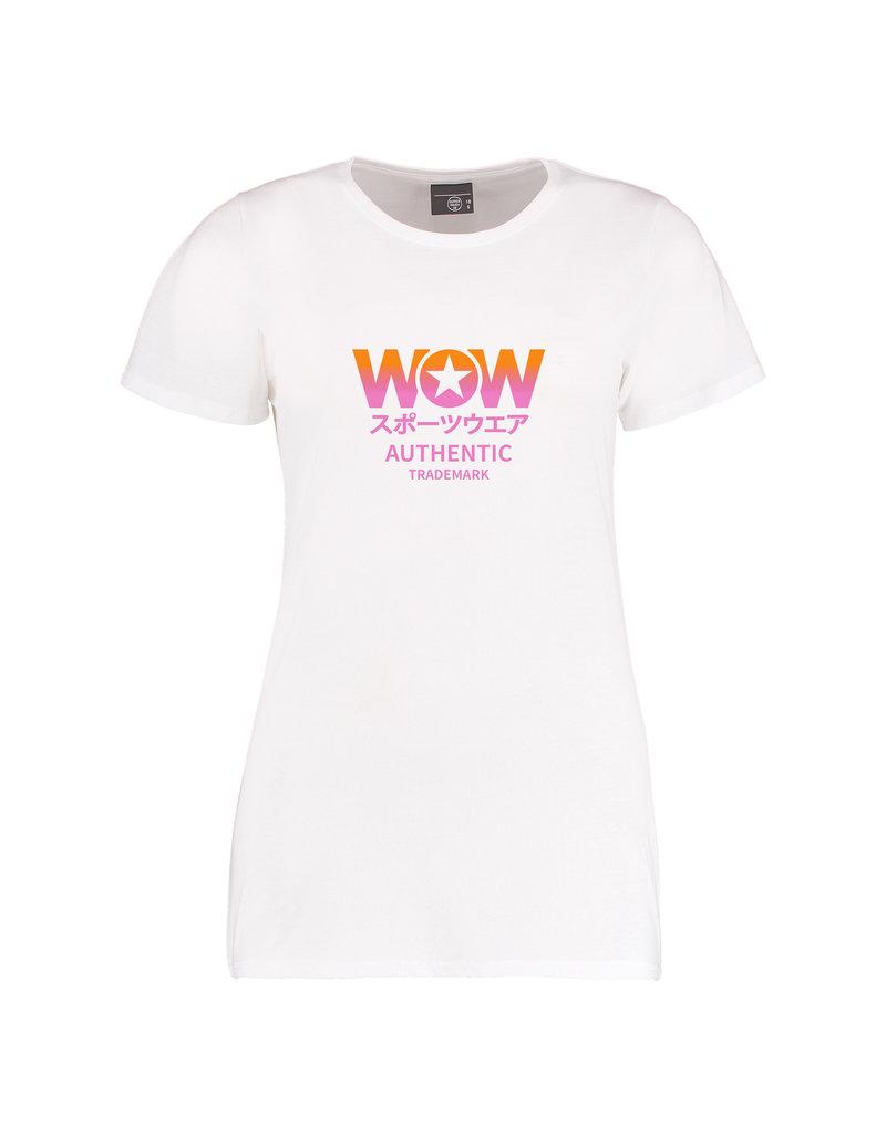 WOW BRAND ORANGE PINK T-shirt| N E W