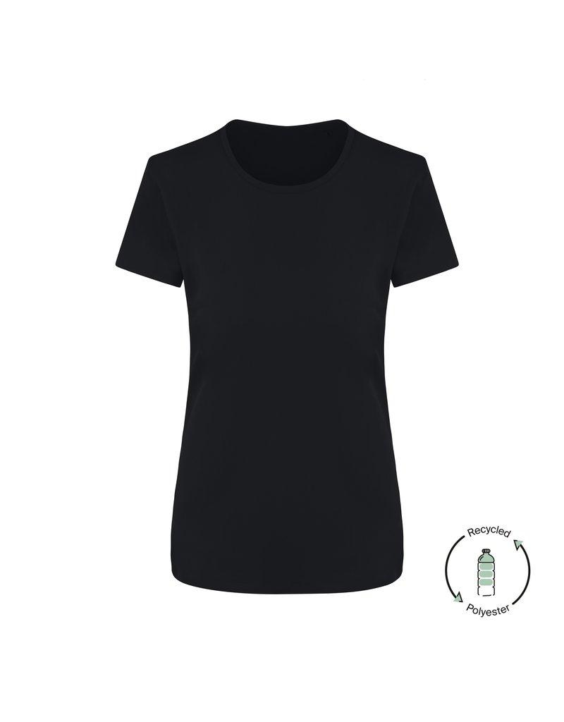 Recycled Sportshirt Zwart