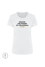 LKTBF Recycled Sport-Tee Power White Woman