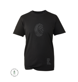 LKTBF Recycled Sport-Tee Fingerprint Black Men