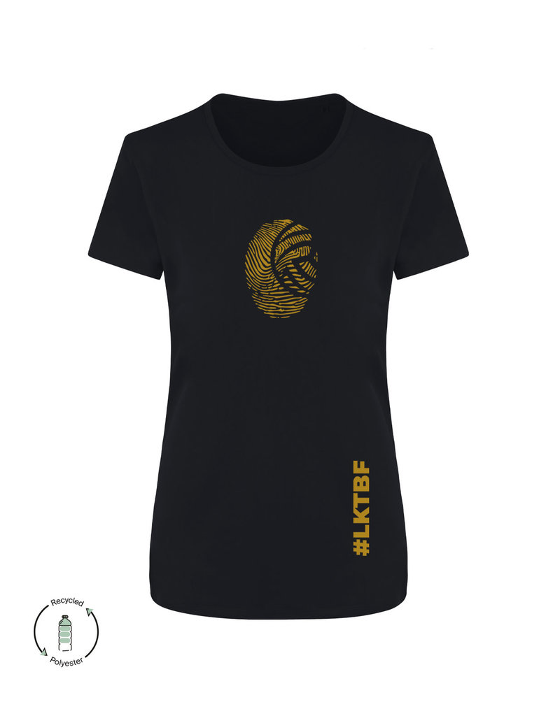 LKTBF Recycled Sport-Tee Fingerprint Gold Woman