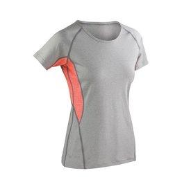 Fitness Women's Tech Panel Marl T Grey / Orange