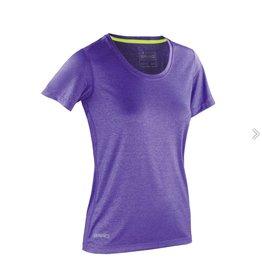 Spiro Fitness Women's Shiny Marl T-shirt Lavender/Lime Punch