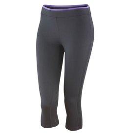 Spiro Fitness Women's Capri Pant Black Lavender