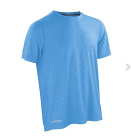 Spiro Fitness Men's Shiny Marl T-shirt Ocean Blue/ Phantom Grey