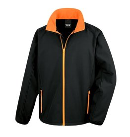 Soft Shell Men Black Orange