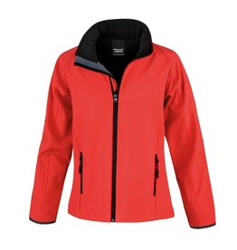 Soft Shell Ladies Red Black