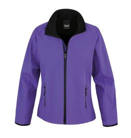 Soft Shell Ladies Purple Black