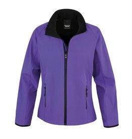 Soft Shell Ladies Purple Black
