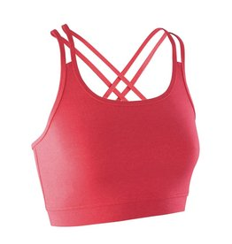 Spiro Fitness Crop Top Hot Coral