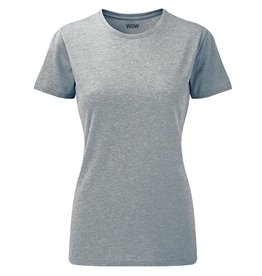 WOW sportswear Ladies WOW Tee Silver Marl
