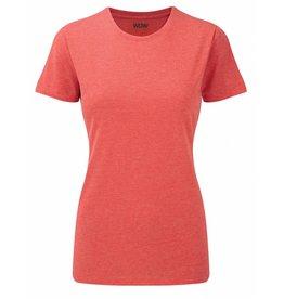 WOW sportswear Ladies WOW Tee Red Marl