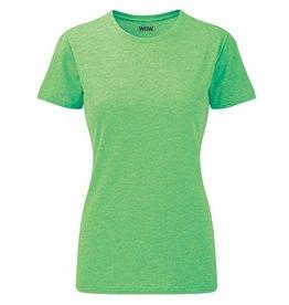 WOW sportswear Ladies WOW Tee Green Marl