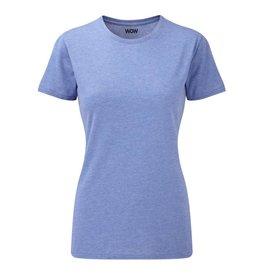 WOW sportswear Ladies WOW Tee Blue Marl