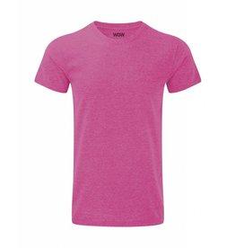 WOW sportswear Men WOW Tee Pink Marl