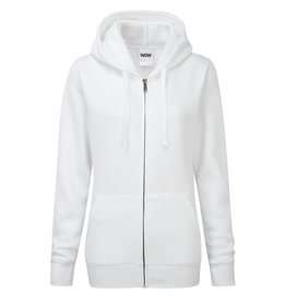 Ladies' Authentic Zipped Hood Classic White