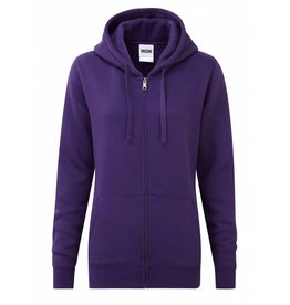 Ladies' Authentic Zipped Hood Classic Purple