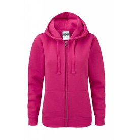 Ladies' Authentic Zipped Hood Classic Fuchsia